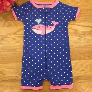 Carter's Size 18 Months One Piece Short Pajamas